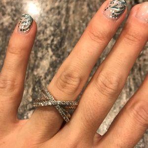 David Yurman Pavé Diamond Crossover Ring
